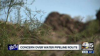 Concern over water pipeline route