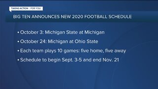 Big Ten announces new, flexible 2020 football schedule