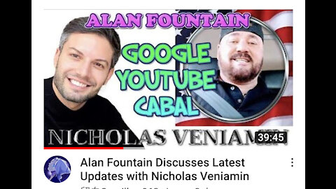 Alan Fountain Discusses Silicon Valley Censoring & Optics with Nicholas Veniamin