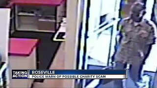 Roseville police warn of possible charity scam