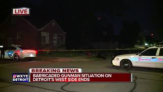 Barricaded gunman situation ends on Detroit's west side