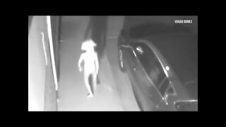 Caught on Camera: Mysterious late night visitor... from another world?