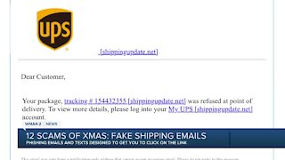 12 Scams of Christmas: Fake Shipping Emails