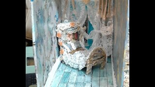 Making a doll bed fit for Queen-Dollhouse journals series