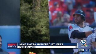 Mike Piazza honored by Mets in Port St. Lucie