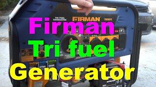 Firman Tri Fuel Generator From Costco