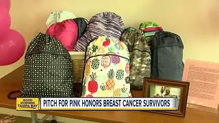 Breast cancer survivor helps create 'survivor bags' for current patients