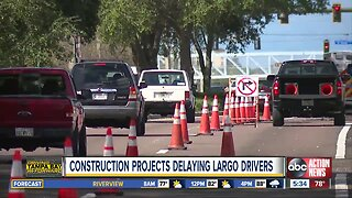 Largo drivers flustered by construction slowing commutes