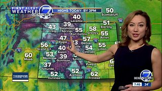 Dry to start, with showers and storms possible late Sunday