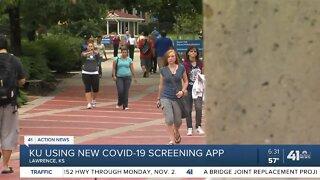 KU using new COVID-19 screening app