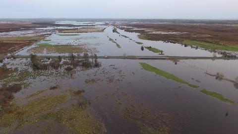Drone captures magnitude of destruction left by Storm Desmond