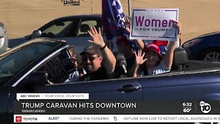 Caravan of Trump supporters hits downtown San Diego