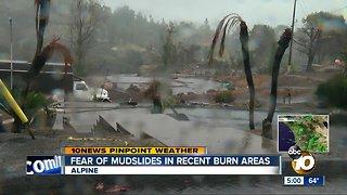 Alpine neighbors concerned about mudslides