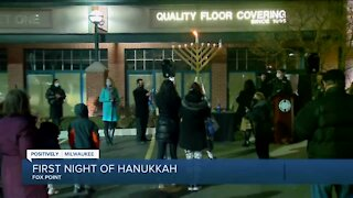 Ceremony held in Fox Point for first night of Hanukkah