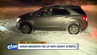 Akron residents fed up with unplowed streets three days after snowstorm