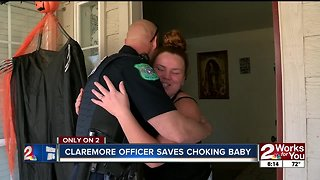 Claremore police officer saves choking baby