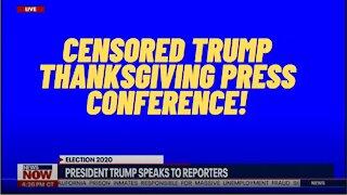 Trump Thanksgiving Speech About Voter Fraud Censored!