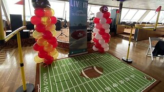 Palm Beach County athletes meet former NFL players on cruise ship