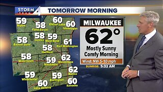Beautiful Tuesday with a chance of isolated showers