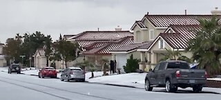 Las Vegas valley hit with wintery weather Friday