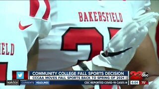 CCCAA moves fall sports back to spring of 2021