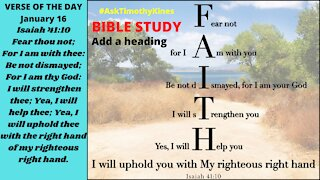 BIBLE STUDY EPISODE 34 A Message from God