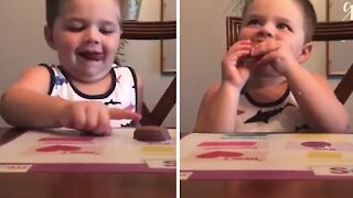 """Close calls: Kid barely passes """"leave it"""" challenge"""