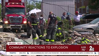 Community reactions to explosion