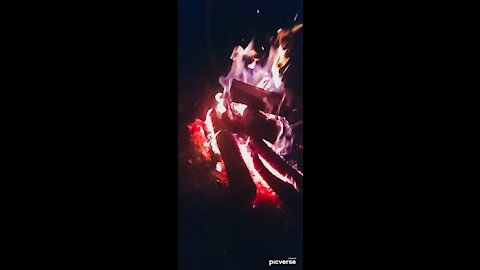 Big fire slow motion