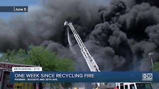 Residents look back on recycling plant fire near 35th Avenue and Buckeye one week later