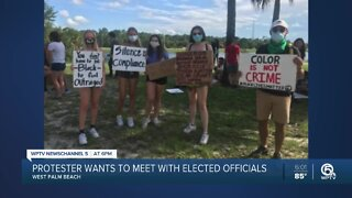 Peaceful protesters call on law enforcement for a roundtable discussion