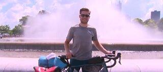 Man takes epic bike trip during pandemic