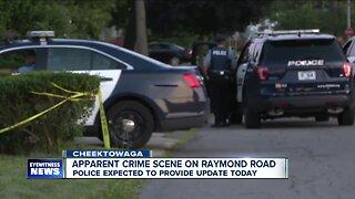 Apparent crime scene on Raymond Road Cheektowaga