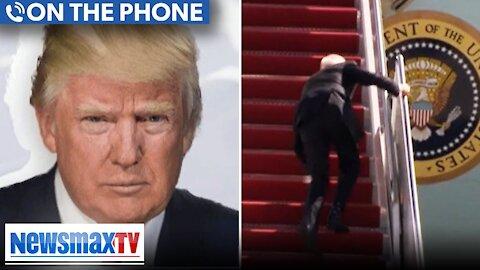Trump Reacts To Biden Falling Three Times