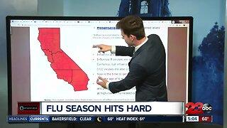 California hit hard by flu season