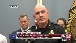 9 men associated with violent Tampa street gang arrested