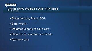 Drive-thru 'Meals Of Hope' mobile food pantries