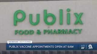 Another round of Publix vaccine appointments open Wednesday