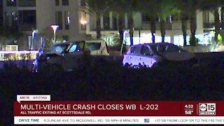 Wrong-way crash leaves multiple people hurt in Tempe
