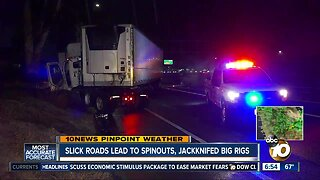 Wet roads lead to crashes on local freeways