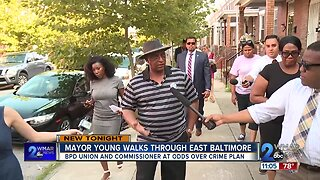 Mayor Young walks through East Baltimore