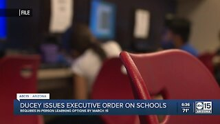 Arizona governor orders schools to offer in-person learning in March