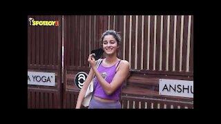 Ananya Panday Spotted at yoga class | SpotboyE