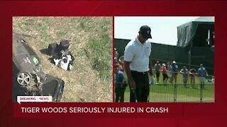 Tiger Woods seriously injured in crash