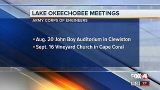 Army Corps of Engineers hold Lake Okeechobee meetings