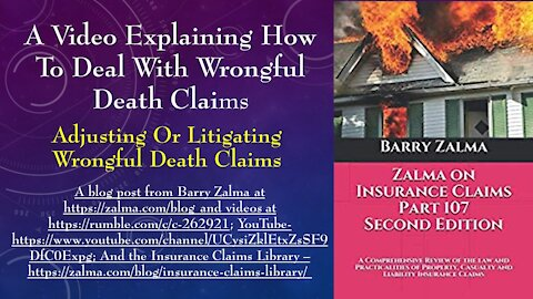 A Video Explaining How to Deal With Wrongful Death Claims