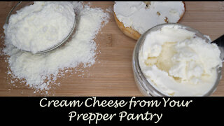 Cream Cheese from Powdered Milk ~ Cooking from your Preps