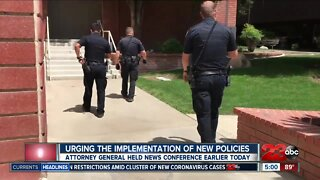 California attorney general urges law enforcement to implement new policies