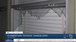 Local elementary school vandalized