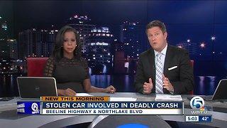 Stolen car involved in deadly crash on Beeline Highway at Northlake Boulevard